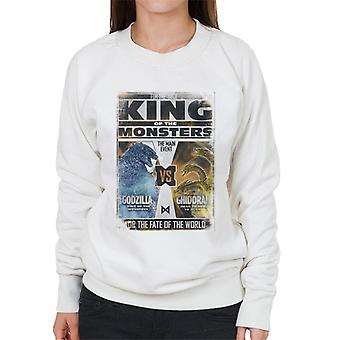 Godzilla Vs Ghidorah King Of The Monsters Poster Women's Sweatshirt