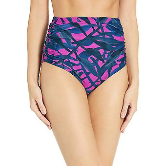 Brand - Coastal Blue Women's Swimwear Shirred High Waist Bikini Bottom...