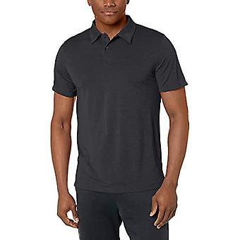 Peak Velocity Men's VXE Short Sleeve Quick-Dry Loose-Fit Polo T-Shirt, Black ...