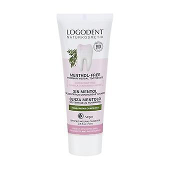 Rosemary Menthol Free Toothpaste 75 ml of cream