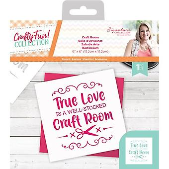 Crafter's Companion Crafty Fun Craft Room Stencil