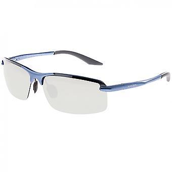 Raza lince aluminio polarizado gafas de sol - azul/plata
