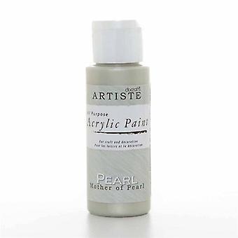 Peinture acrylique Docrafts (2oz) - Nacre (DOA 763002)