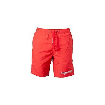 Men's Red Supreme Grip Swim Shorts