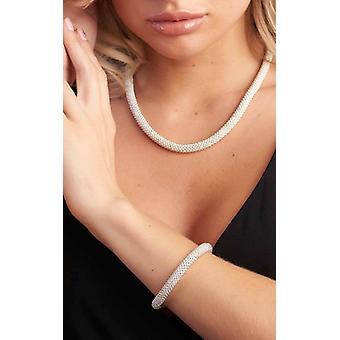 Silver Snow Slice Design Bracelet