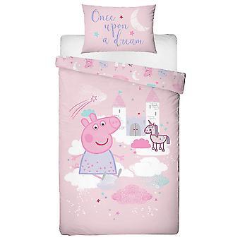 Peppa Pig Stardust Single Duvet Cover and Pillowcase Set