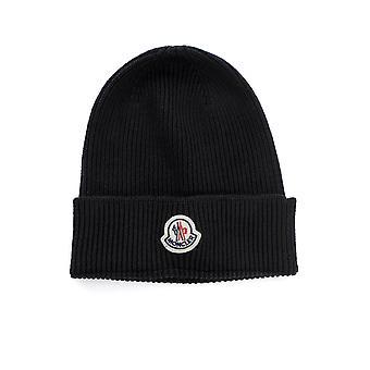 Moncler 3b70500a9342999 Men's Black Wool Hat