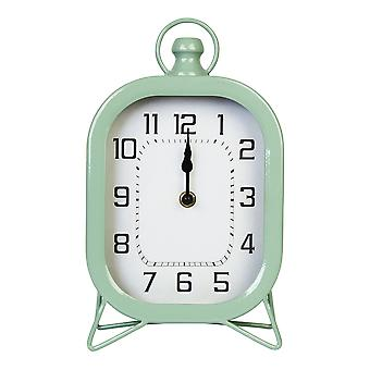 Rounded Square Table Top Clock with Semi-Glossy Green Finish