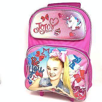 Veľký valcovanie batoh - JoJo Siwa - Pink Jednorožec Hviezdičky Nové 004422-2