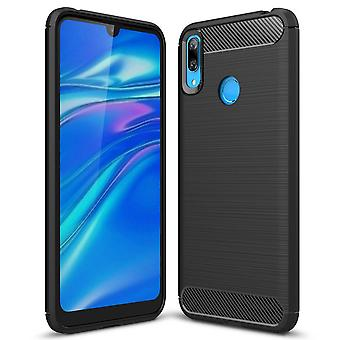 Soft Rubber Shell for Huawei Y7 (2019) TPU Mobile Shell Mobile Cover Shockproof Black
