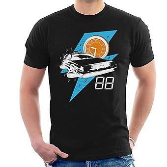 Back to the Future Delorean 88 Miles Per Hour Men's T-Shirt
