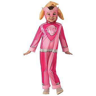 Skye PAW Patrol Mighty Pups Cockapoo Dog Puppy Toddler Girls Costume 2-4