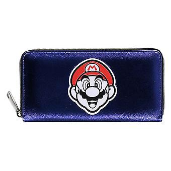 Super Mario Purse Summer Olympics Logo new Official Purple Zip Around