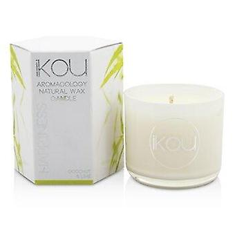 Eco-Luxury Aromacology Natural Wax Candle Glass - Happiness (Coconut & Lime) (2x2) pouce