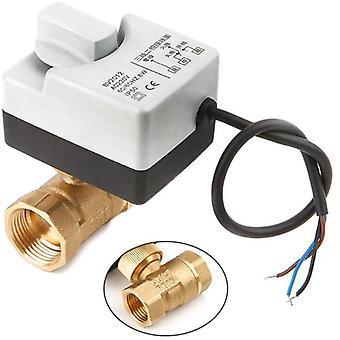 2 Way 3 Przewody Zmotoryzowany elektryczny zawór kulowy siłownik z przełącznikiem ręcznym