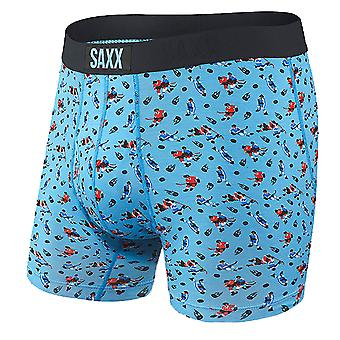Saxx Ultra Fly Boxer Brief - Blue Action Shot