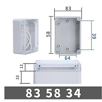 Waterproof Plastic Junction Box Transparent Cover Enclosure Electronic