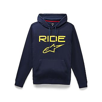 Alpinestars Men's Fleece Huppari ~ Ride 2.0 tummankeltainen
