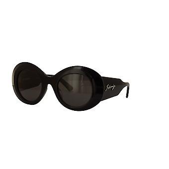 Balenciaga BB0120S 001 Gafas de Sol Negras/Grises
