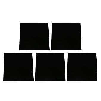 5pcs 8x8x0.23cm Smooth Acrylic Sheet for DIY Decoration Black