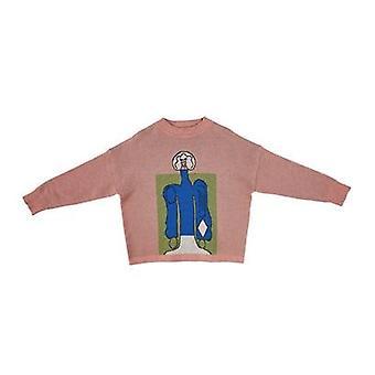 キッズ秋セーター - 冬のファッションプリントニットカーディガン、ベビーチャイルドコットン