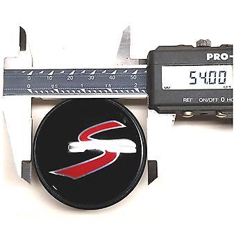 Black/Red Mini Cooper S Wheel Center Cap Hub Badge 54mm 1 PCS For Clubman Clubvan Countryman Paceman Roadster