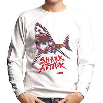 Jaws Neon Shark Attack Men's Sweatshirt