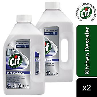 Cif Professional Pro Formula Kitchen Descaler 2Ltr, 2pk