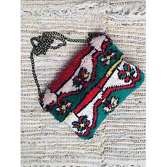 Vintage Teppich Crossbody Clutch Tasche