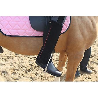 Profession Half Chaps Horse Riding Suede Leather Equestrian Body Protector