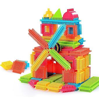 Kid Bristle Shape 3d Building Blocks Tiles Construction Playboards Toys