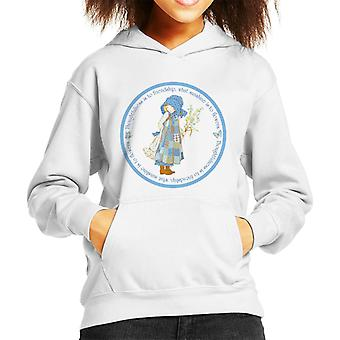 Holly Hobbie Eftertænksomhed Venskab Sollys Blomster Kid's Hooded Sweatshirt