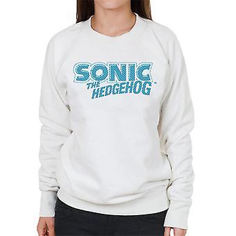 Sonic der Hedgehog blau Streifen Logo Frauen's Sweatshirt