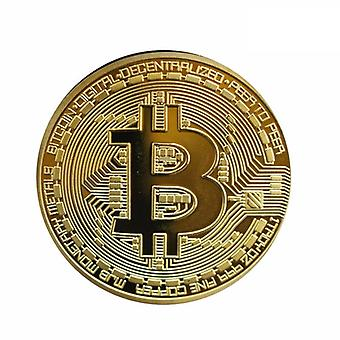 Gold Plated Bitcoins Physical Metal Antique