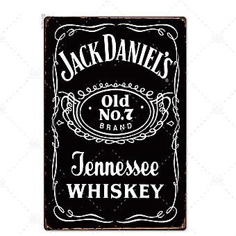 Whiskey Vintage Metal Sign Tin For Wall Decor