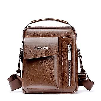 Man Vintage Leather Messenger Bag