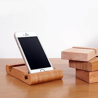 Bambusový držiak telefónu držiak karty