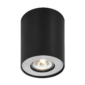 Italux Noma - Moderne Oberfläche montiert weiß 1 Licht mit schwarzem Schirm, GU10