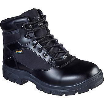Skechers الرجال Wascana Benen أحذية السلامة الجلدية