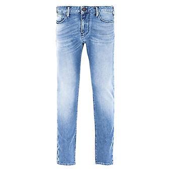 Emporio Armani J06 Slim Fit Light Blue Wash Jeans