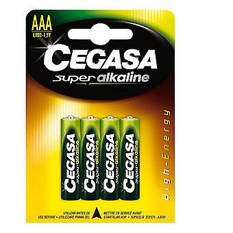 LR03 Alkaline Batteries Cegasa AAA 1,5V (4 uds)