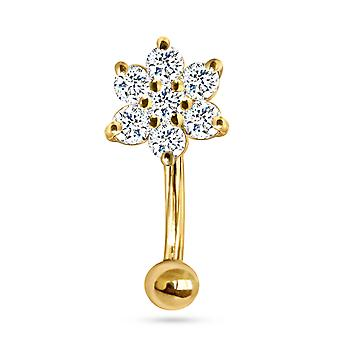 Belly Button Fairy Flower Pure, 18K Gold & Diamonds