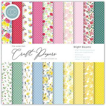 Craft Consortium Essential Craft Papers 6x6 Inch Paper Pad Bright Blooms