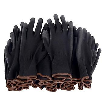 6-24 Pairs Of Nitrile Safety Coated Work Gloves
