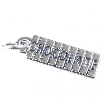 Chocolate Sterling Silver Charm .925 X 1 Chocolates Sweet Candy Charms - 3752