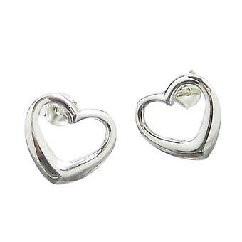 Heart Sterling Silver Stud Oorbellen .925 X 1 Paar Harten Studs Eu264680