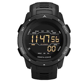 Ceas digital pentru barbati, ceasuri sport, timp dual, pedometru, ceas cu alarmă,