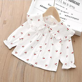 Baby Spring Shirts, Cherry Print Tees Tops Cotton