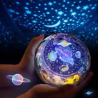 Star Projector Night Light för barn, Stjärnlampa 360¡ãRotating Projektor