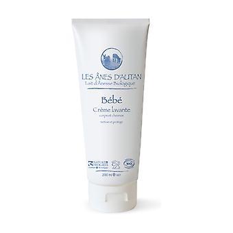 Organic baby body and hair washing cream 200 ml of cream